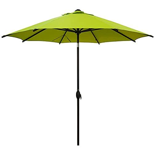 WUKALA Sombrilla para Playa con Inclinación y Manivela,8.5ft Parasol de Jardín con Ocho Varillas,protección UV y Sombrilla Balcon Duradera,para Jardines Piscinas Mercados
