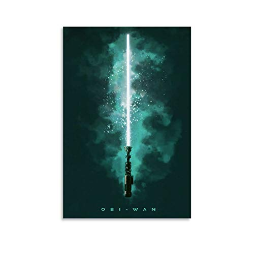 DRAGON VINES Star Wars Obi Wan - Póster de sable láser (40 x 60 cm)