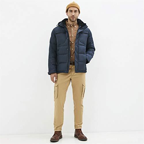 TBAO Winter Neue Lässige Und Modische Herren Baumwolle Gepolsterte Warme Und Winddichte Herrenmantel (Color : M456, Size : 50)