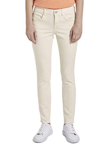 TOM TAILOR Damen Jeanshosen Nena & Larissa: Alexa Slim Jeans in Ankle-Länge Soft Vanilla,29/32,23304,3000