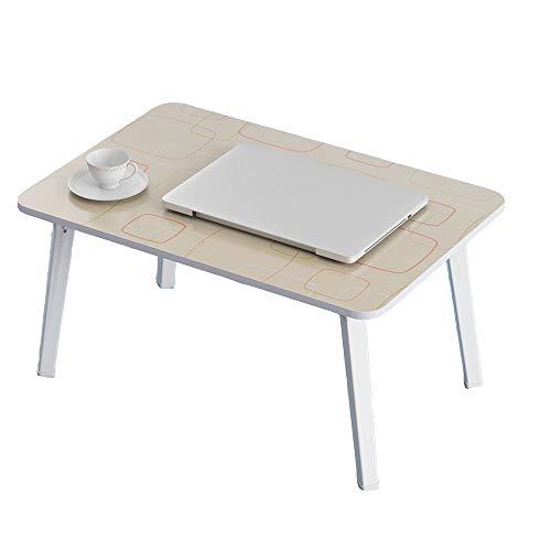 LVZAIXI Petit lit Table Ordinateur Portable Table Plateau De Service Petit-déjeuner Lazy Clip Portable Multifonction Pliable, 4 Couleurs, 60x40x29cm (Couleur : Beige)