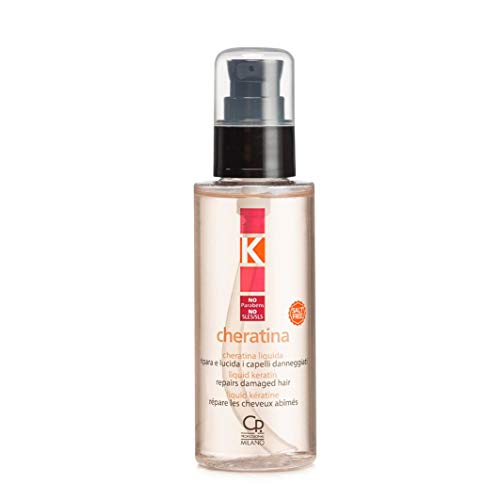 K-Cheratina Liquida - Sérum Professionnel à la Kératine Hydrolysée et Huile d'Argan pour Cheveux Abîmés - Traitement Professionnel Hydratant et Restructurant - 100 ml
