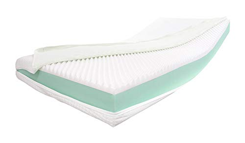 Alanpur  Visco Royal • Orthopaedic Visco + Cold Foam Mattress (High Density) Selection x Approx. 16 cm Core with a Smooth Aloe Vera Cover Approx. 16.2 cm - Made in Germany (110 x 190 H3)