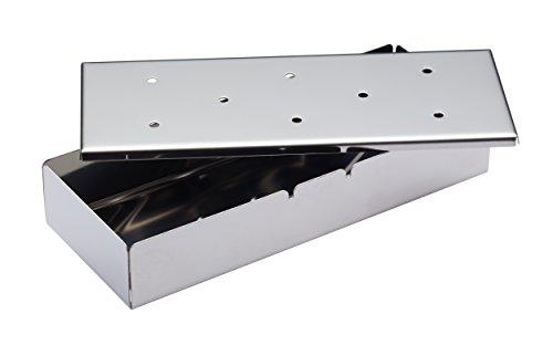 KitchenCraft Home Made Stainless Steel BBQ Smoker Box, 22.5 x 9 x 4 cm