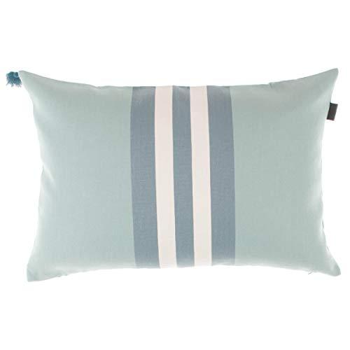 GANT Home Kissenbezug Kissen Tone Stripe Cushion gestreift 40x60 cm, Farbe:Türkis(450)
