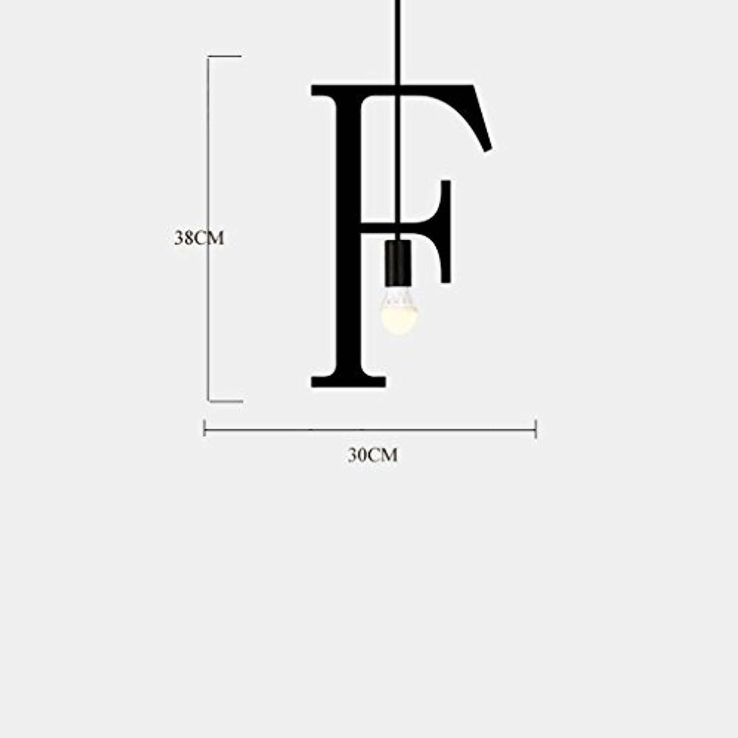 LED Deckenleuchte Eisen Englisch Alphabet Pendelleuchten Plaques Zeichen Hngeleuchte Dekoration Kronleuchter E27 Für Restaurant Cafe   Bar,F