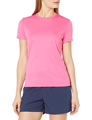 Hanes Sport Women's Short Sleeve Cool DRI Performance Tee, Wow Pink, Medium