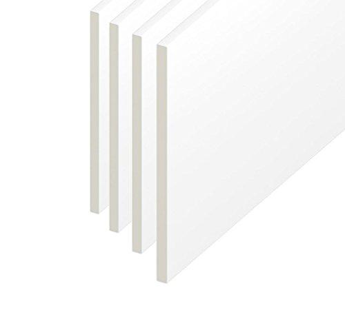 150mm techo/utilidad/Reveal/zócalo PVC junta de plástico–Color blanco–1M de longitud, blanco