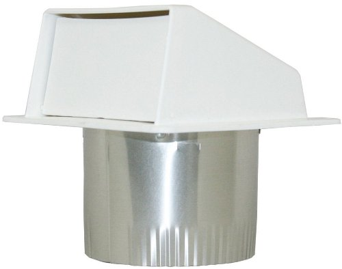 Builder's Best EX-EVW 04 4-Inch Diameter Plastic Eave Vent, White