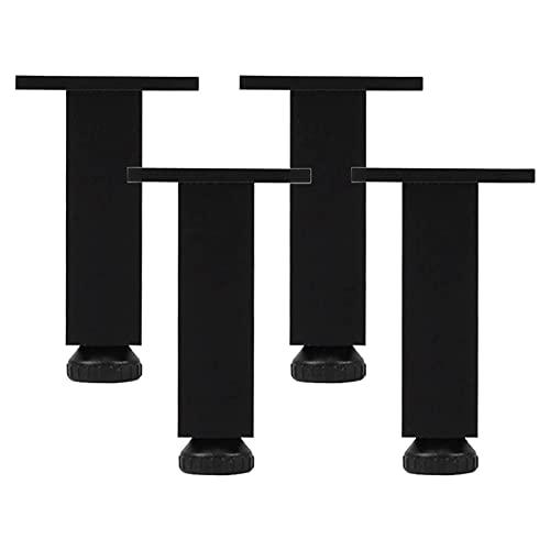 4 patas ajustables para muebles, patas de armario de aleación de aluminio, patas de repuesto para muebles, altura ajustable de 0 a 10 mm, para sofá, sillón, armario, soporte para TV (8 cm / 3 pulgadas