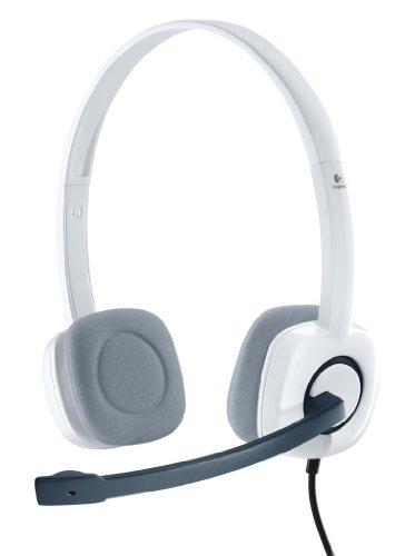 Logitech H150 Kopfhörer mit Mikrofon, Stereo-Headset, Mikrofon und Kopfbügel Verstellbar, Schaumstoff-Ohrpolster, Audio/Mikrofon Dualanschluss mit zwei 3,5mm Klinken, PC/Laptop - Weiß/Grau