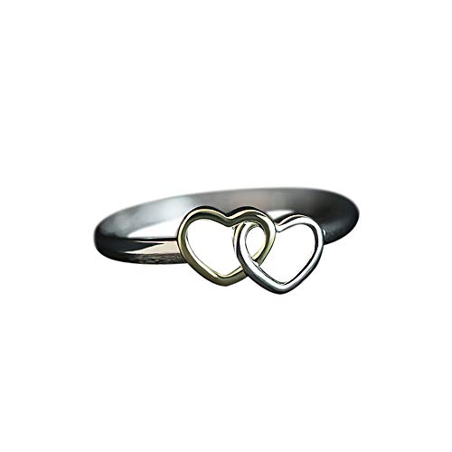 Review GOTDCO. Love Lady Engagement/Wedding Rings for Girlfriend/Wife, Elegant Heart-Shaped Jewelry ...