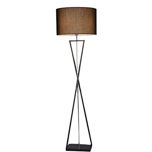 Staande lampen, lange levensduur, met metalen standaard en linnen, stoffen kap, voor slaapkamer, studio, hotellampen