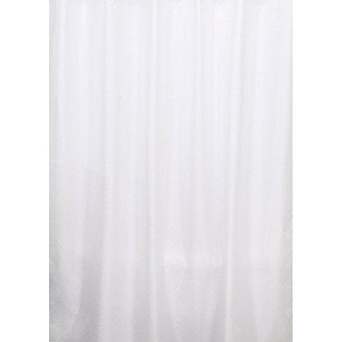 Euroshowers Design Duschvorhang, 180 x 200 cm, 100% Polyester (White Jacquard)