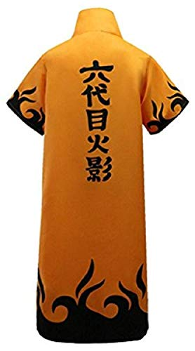 POYUT Anime Naruto Long Robe Cosplay Costume Uniform Cloak Cape with Headband Toy Long Sleeve Autumn Outerwear Unisex, X-Large