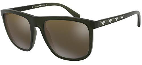 Emporio Armani 0EA4124 Gafas de sol, Matte Opal Green, 57 para Hombre