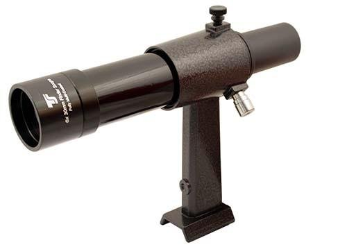 TS-Optics 6x30 Sucher geradsichtig Metall mit Halter passend für Schnellwechselsystem von Celestron, SkyWatcher, Orion, GSO, TSSU630s