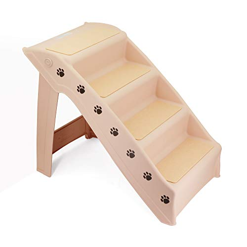 GNEGNIS Escalier pour Chien, Escaliers pour Animaux, Échelles légères Pliables en 4 étapes, escabeau pour Chien et Chat pour lit Mezzanine, Chaise, canapé, Camion, Voiture