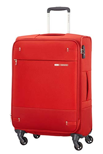 Samsonite Base Boost - Spinner M Erweiterbar Koffer, 66 cm, 67.5/73.5 L, Rot (Red)