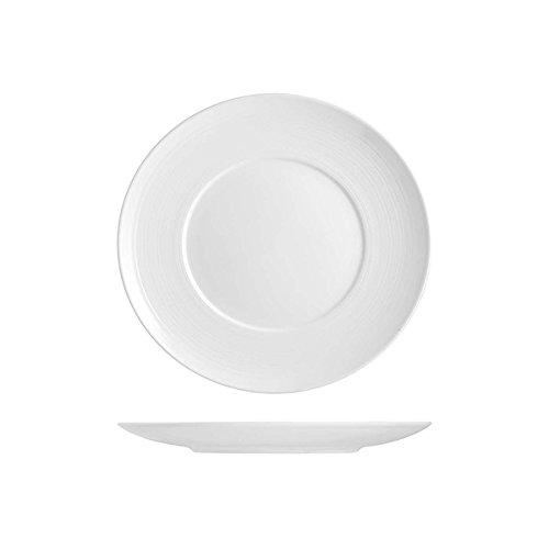 H&H Set Hotelware Set Piatti 2 Ronds Plats En Porcelaine 31,5 Cm