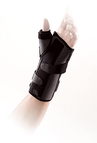 Ligaflex Manu - Soporte y tratamiento eficaz para esguinces leves de muñeca y/o pulgar, tensiones severas del pulgar, fracturas de escafoides, tendinitis de muñeca y pulgar y trastornos tendinosos e inflamación reumática. Disponible en 4 tamaños (talla 2 - Derecha) ⭐