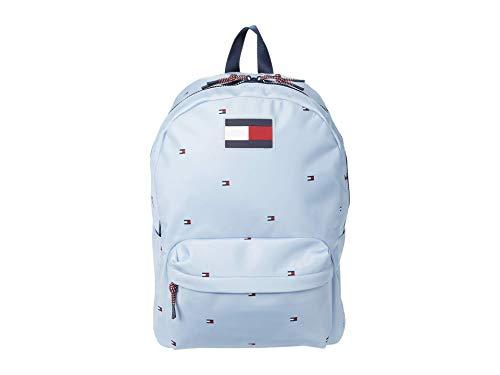 Tommy Hilfiger Mochila de ciudad, mochila escolar, mochila de ocio, 40 x 40 x 10 cm, asa de transporte, color azul claro 0538