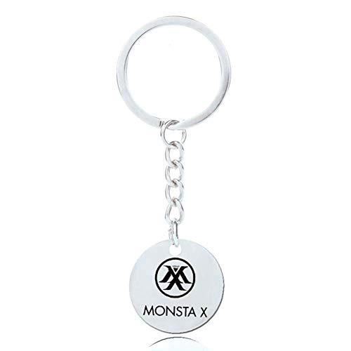 Yovvin BTS Schlüsselanhänger | Unisex Kpop Seventeen GOT7 Monsta X MAMAMOO BTS EXO Blackpink Twice Anhänger Keychain The Army( Monsta X-1)