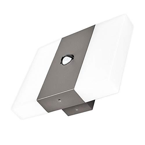 Lindby LED Wandleuchte außen mit Bewegungsmelder | Außenwandleuchte modern IP44 | Außenleuchte Wand | Außenbeleuchtung Wand für Hof, Garten, Terrasse, Balkon, Haus