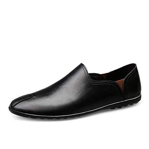 CAIFENG Volón de conducción para Hombres Mocasines Ocasionales Suaves Zapatos de Ocio Negocios Oxford resbalón en Cuero sintético tacón Plano Transpirable Resistente al Uso liviano