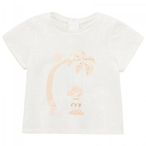 Chloé - T-Shirt Blanc Palmier - 6 Mois, Blanc
