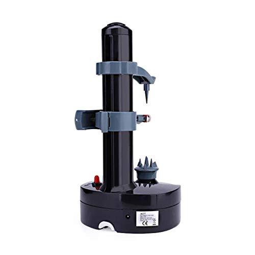Pelador eléctrico Geneic multifunción para frutas y verduras Pelador automático de acero inoxidable cortador de patata máquina cocina negro