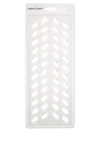 Crafter's Choice - Lip Balm Tube Filling Tray - Silicone Tray for Filling Lip Balm Tubes and Cosmetic Products - OVAL - 3002