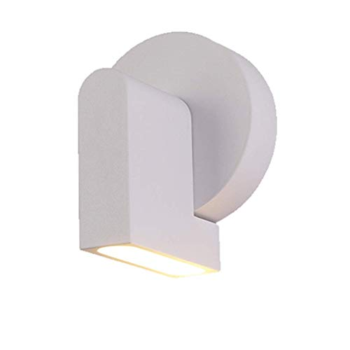 Wall Lamp Led Personality TV Wall Decoration Lamps Corridor Aisle Bedroom Bedside Lamp durable (Color : White)