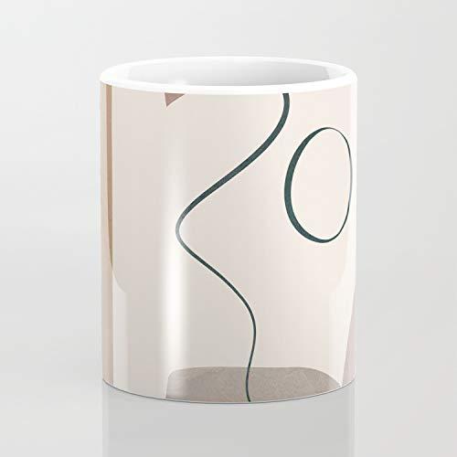 Minimal Abstract Shapes No.62 - Taza de café (325 ml), diseño artístico