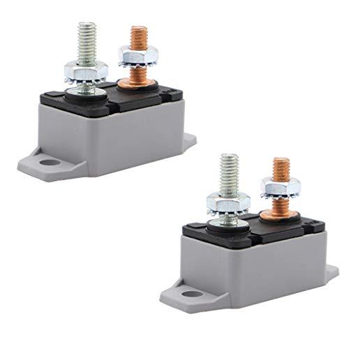 IPOTCH Reinicio Automático del Disyuntor de 2 Uds 15Amp para Coche, Barco, Camión, Marina, 12 V, 24 V