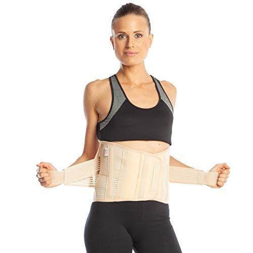 Medische rugbeugel - Lumbosacrale draagriem - 26 cm rugmaat - Onderrug beugel - Lumbale ondersteuning - Elastisch S Beige