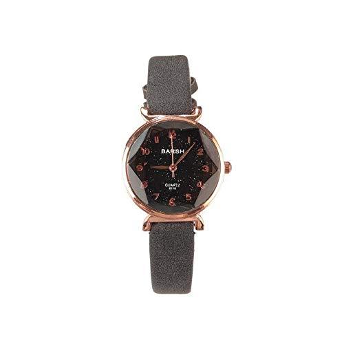 Reloj para mujer, diseño de unicornio con estrellas estrelladas