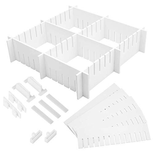 Cabilock 34 stuks kunststof DIY rooster lade verdeler huishouden opslag Spacer Sub Grid finish rekken voor thuis netjes…
