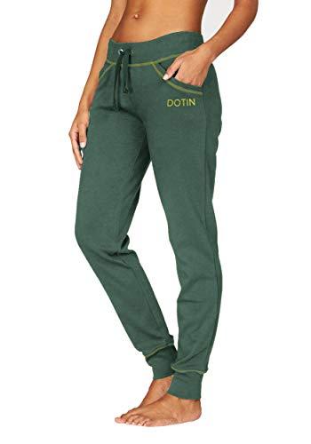 DOTIN Pantaloni Sportivi da Donna, Pantaloni Lunghi con Due Tasche e Tinta Unita.