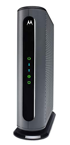 Motorola 24x8 Cable Modem, Model MB7621, DOCSIS 3.0. Approved by Comcast Xfinity, Cox, Charter Spectrum, Time Warner Cable, and More. Downloads 1,000 Mbps Maximum (No WiFi)