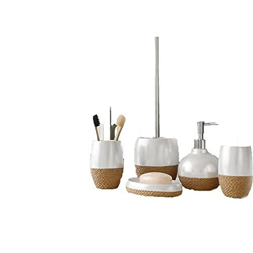 Dispensador De Jabon Manual Dispensadores De Loción para Baños para Jabón Champú Detergente Líquido Jabonera Taza para Gárgaras Portaescobillas Accesorios para Ducha