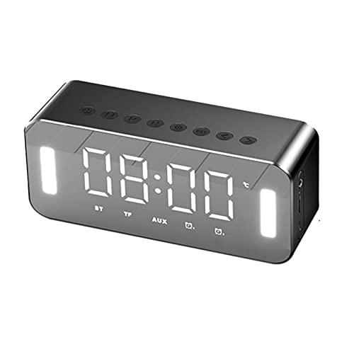 ZEIYUQI Altavoz Inalámbrico Bluetooth de 5W,Subwoofer para el Hogar,Mini Altavoz para Teléfono Móvil,Reloj Despertador Portátil Sonido,10 Horas de Tiempo de Reproducción