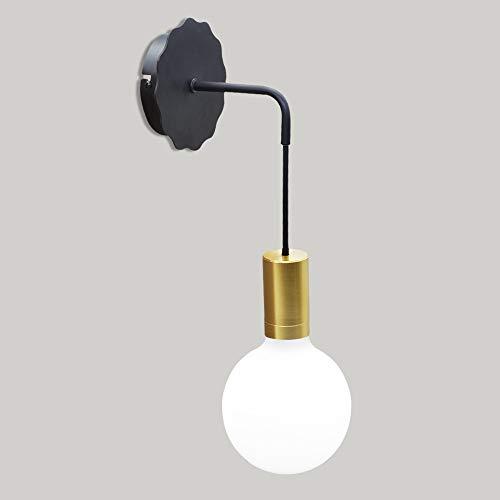 Wandlampen met kabel Eenvoudige creatieve hangende muur Gouden lamphouder voor trappen Gangpad Woonkamer Decor Lichtbocht Pijp Ijzer Lichtarmatuur, Artpad