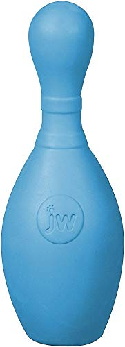 JW Pet- iSqueak Bouncin' Bowlin Pin Dog Toy, (Assorted Colors) 1 Unit