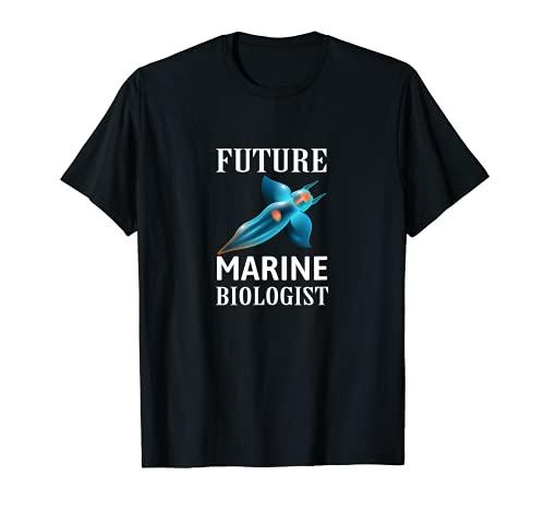Disfraz lindo del bilogo marino del futuro para nios y adultos Camiseta