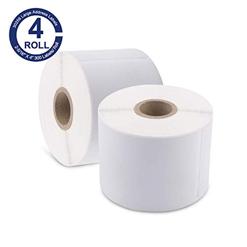 """Suminey - Compatible 30256 Shipping Labels 2-5/16"""" X 4�(59mm x 101mm) Replacement for DYMO 30256 Labels,Perforated & Premium Adhesive, 4 Rolls"""