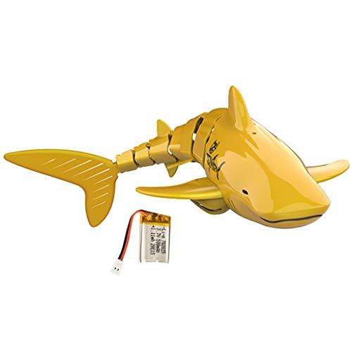 YUYAN Goldene Fernbedienung Hai, 2,4 G Fernbedienung mit 40 m Funkreichweite, einfaches Tasten-Design und einfach zu steuern, frei im Wassertank, in der Badewanne oder im Schwimmbad schwimmen