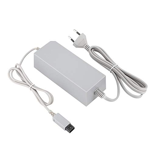 Fuente de alimentación Adaptador de CA Cargador Cable de Cable para Gamepad, Reemplazo DC12V / 3.7A Cargador para Consola Wii, 100-240V(UE)