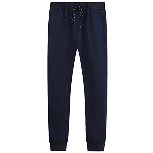 GITVIENAR Hommes Outdoor Sports Pants Souple Confortable et Respirant pour Femme Loisirs Pantalon avec Cordon de Serrage pour Course, Jogging, Workouts, Schwarz 02, EU 2XL(Taille:80-88cm)
