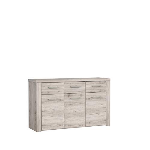 FORTE Portland Sideboard, Holzwerkstoff, 55 x 83,1 x 136 cm